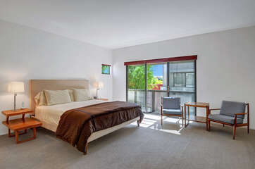 Spacious Guest Bedroom has a Private Balcony