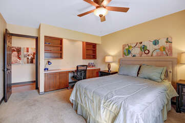 Middle Guest Bedroom with Desk