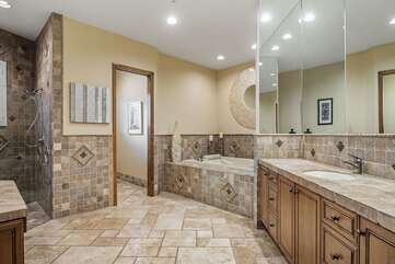 Large and Open Grand Master Bathroom