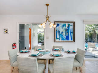 Classy One of a Kind Dining Area