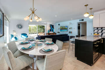 Full Living and Dining Space View