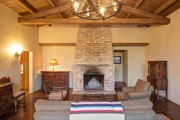 Alternate View of Living Room with Cozy Fireplace