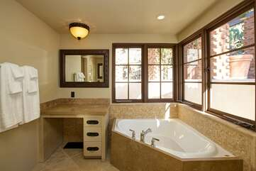 Master Bathroom with Soaking Tub