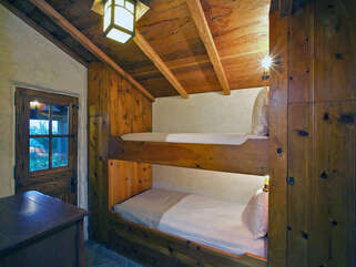 Downstairs Guest Bedroom with Twin Bunk Bed