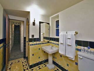Downstairs Unique Bathroom with Shower