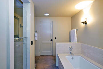 Master Bathroom One with Tub and Shower