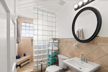 Guest Hallway Bathroom with Stall Shower