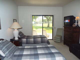 Guest Bedroom with Two Full Beds