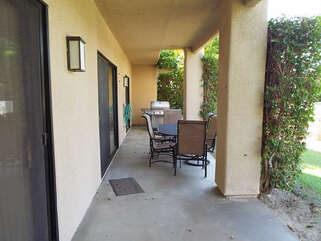 Private Patio with BBQ and Dining Set