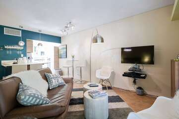 Lovely Living Space with Flat Screen TV
