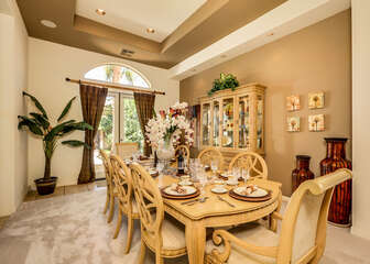 Formal Dining Room for Eight