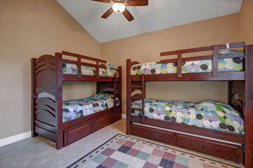 Guest Bedroom Three with Two Twin Bunk Beds