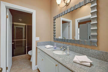 Guest Bathroom with Walk-In Shower