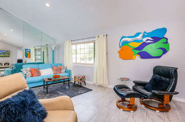 Eclectic and Vibrant Living Room