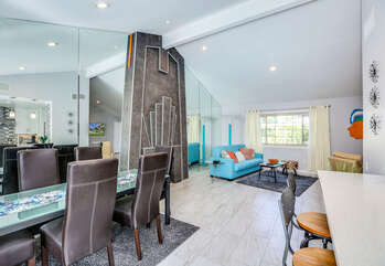 Remodeled Art Deco Inspired Fireplace