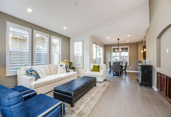 Vaulted Ceilings and Open Concept