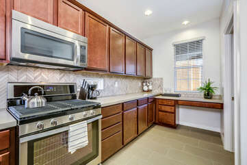 Granite Counters and Ample Storage