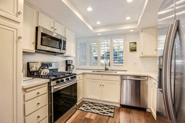 Fully Stocked Kitchen with Stainless Appliances