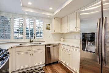 Kitchen Sink Views to Entry Courtyard