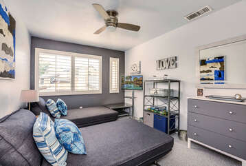 Upstairs Guest Room with Twin Configuration Shown