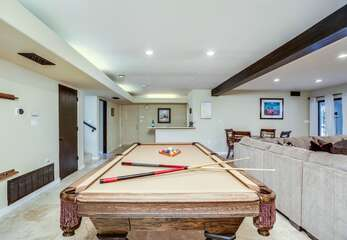 Billiard Table in Entertainment Room