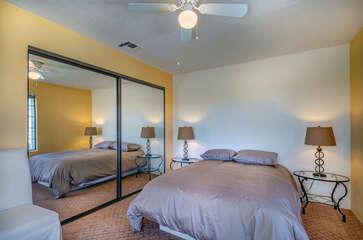 Mirrored Closet in Guest Bedroom
