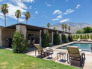 Private Backyard and Pool Looking to the Mountains