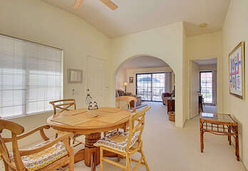 View of Dining Area Into Living Room