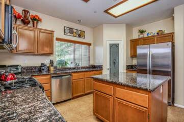 Granite Counters and Pantry Closet
