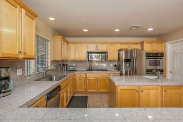 Maple Cabinetry and Granite Counters