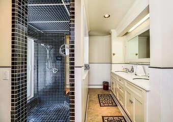 Unique Master Bathroom with Amazing Walk In Shower