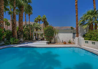 Fully Private Front Yard with Pool.