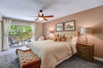 Master Bedroom with Private Patio