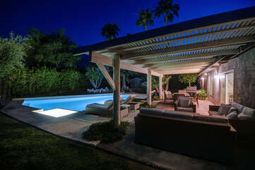 Outdoor Living Area at Night