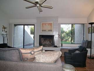 Another View of Living Room & Fireplace