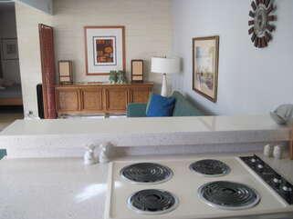 Kitchen Stove and Breakfast Bar