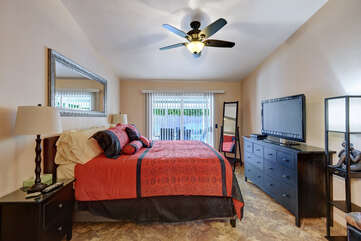 Master Suite with Flat Screen TV
