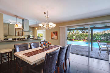 Pool Views From Dining Area