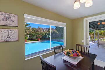 Breakfast Nook with Pool View