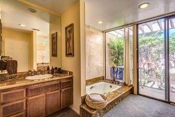 Master Bath with Sunken Tub