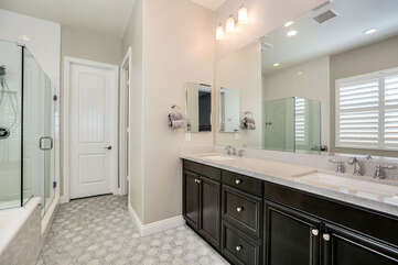 Master Ensuite Bath with Dual Sinks