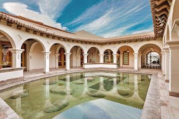 Courtyard Fountain at Main House