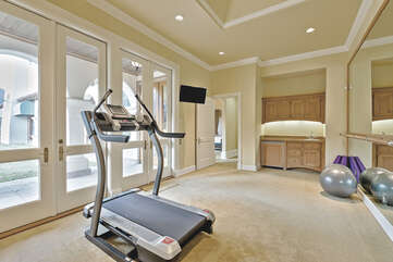 Fitness Room off Master Suite