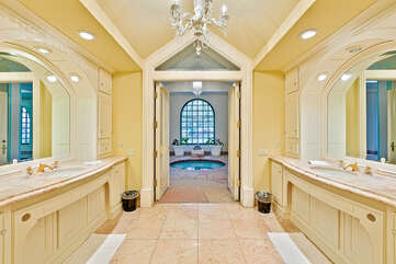 Master Bath Looking to Indoor Spa and Pool