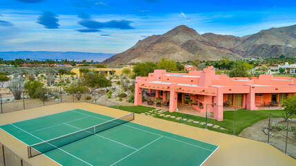 Aerial View of the Tennis House