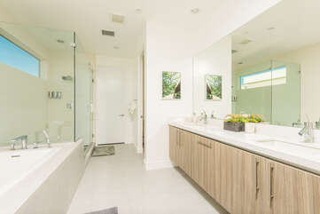 Master Bath with Large Soaking Tub and Walk In Shower