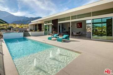 Sparkling Pool with Water Feature
