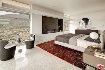Master Bedroom With Fireplace View 1