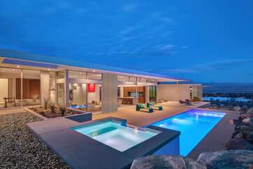 Pool and Spa Overlooking Palm Springs