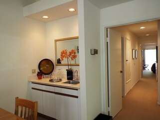 View of Wet Bar and Hallway